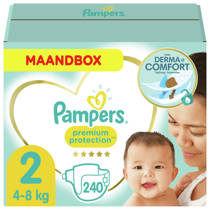 Pampers Premium Protection maandbox maat 2 (4-8 kg) 240 luiers