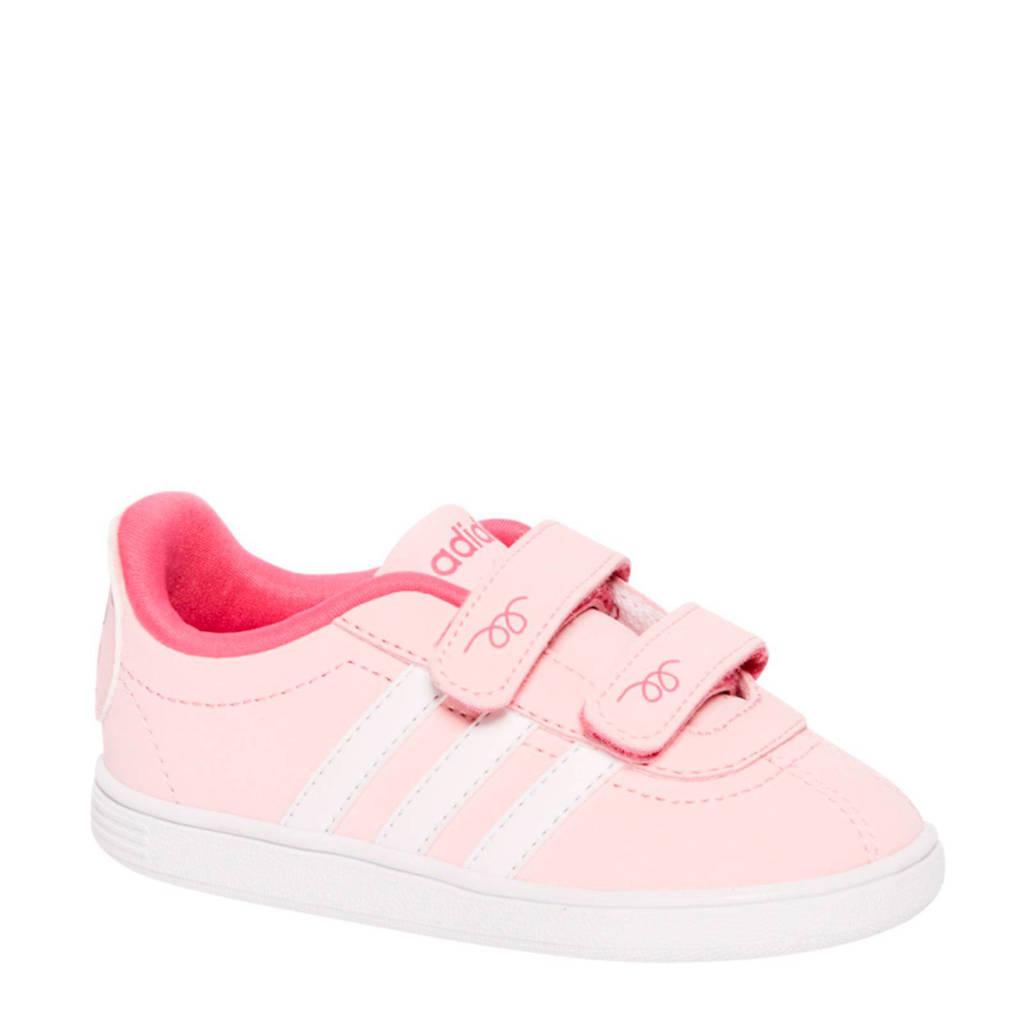 adffde951ad875 adidas neo sneakers meisjes, Roze/wit