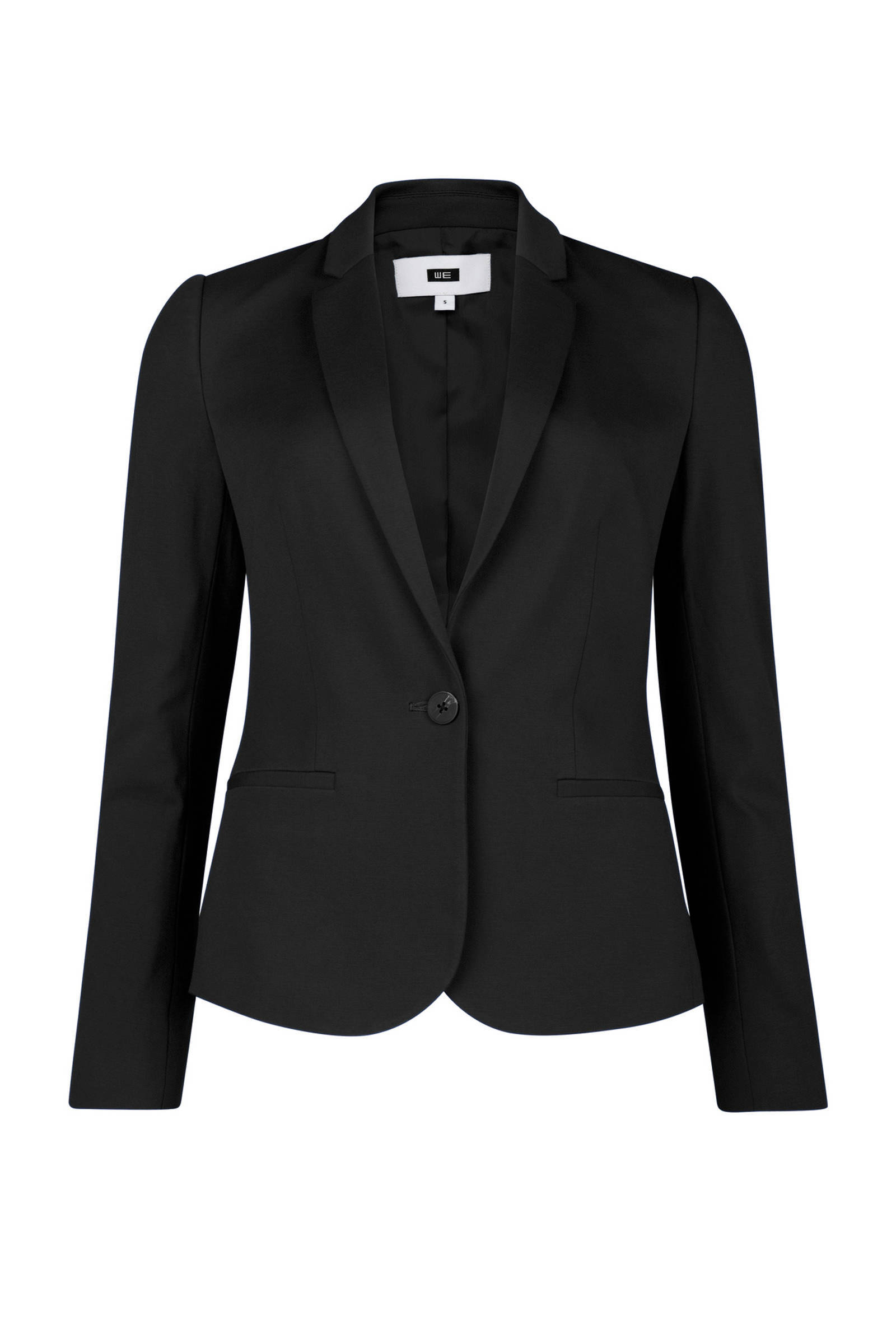 WE Fashion jersey blazer zwart | wehkamp