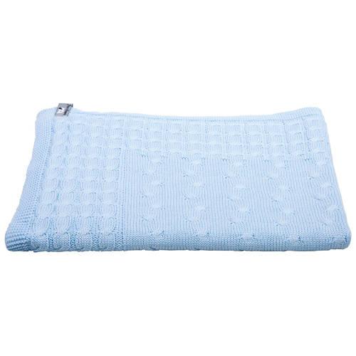 Baby's Only Wiegdeken Kabel babyblauw 90x75 cm