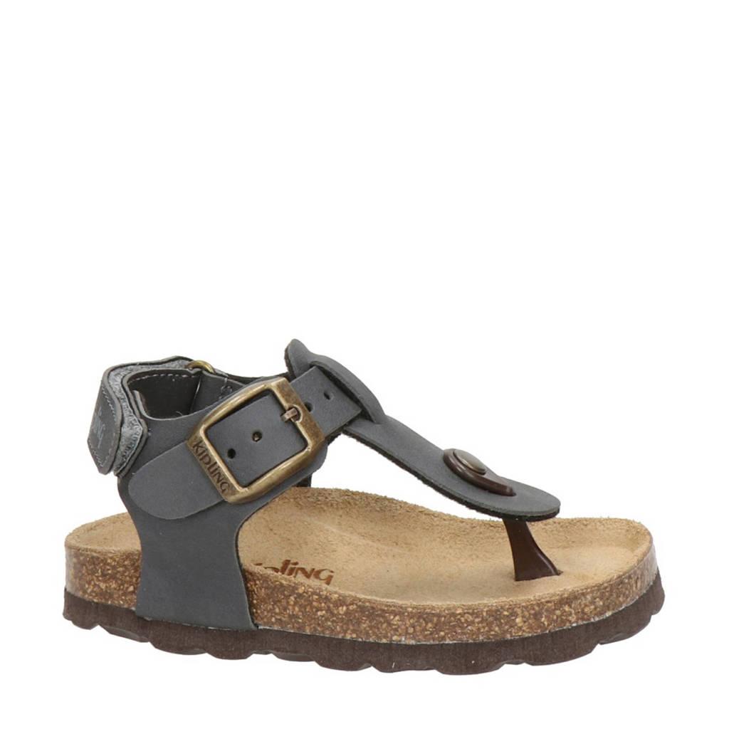 Kipling Juan 3   sandalen grijs, Grijs