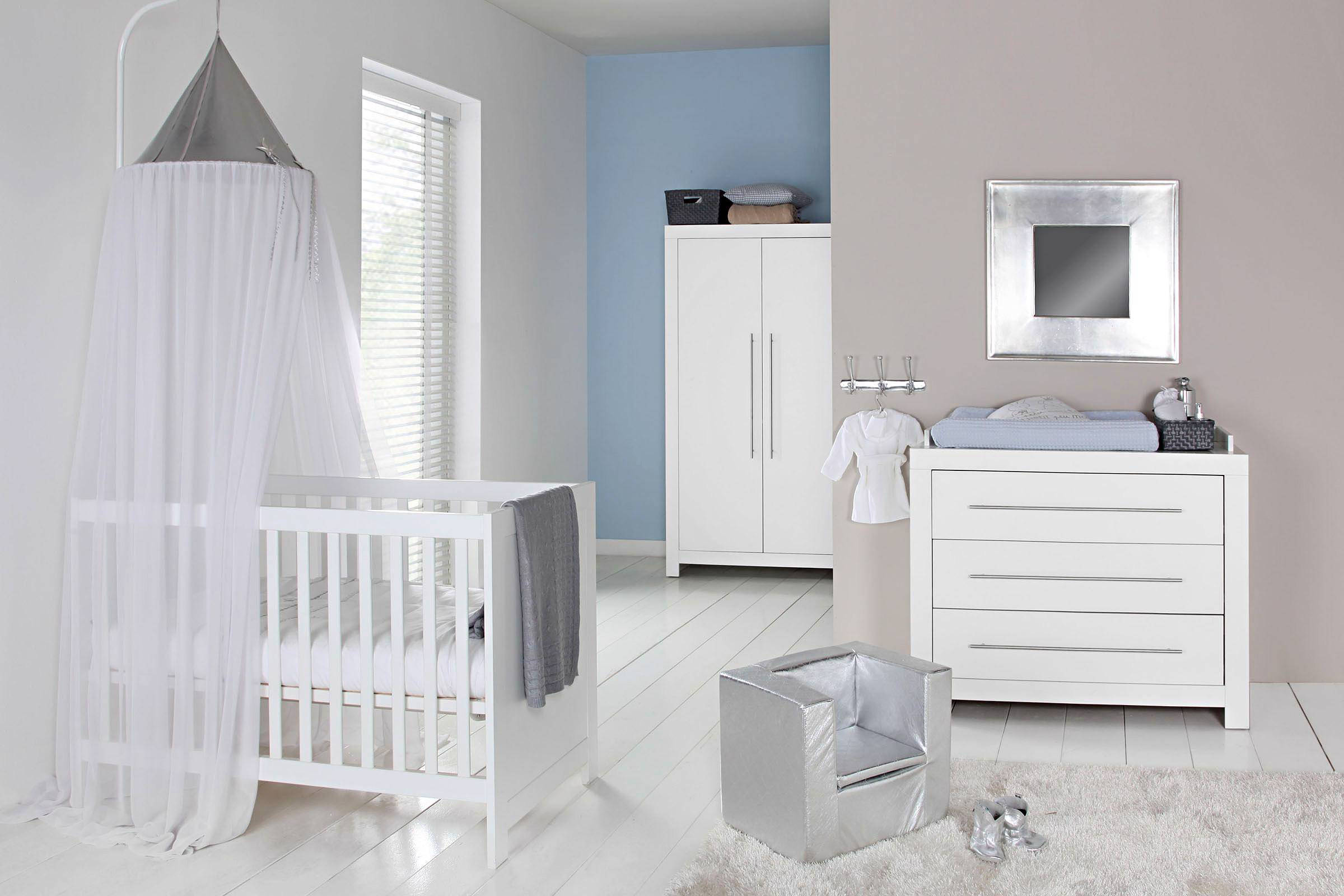 Europe Baby Vittoria babykamer (ledikant + commode) wit
