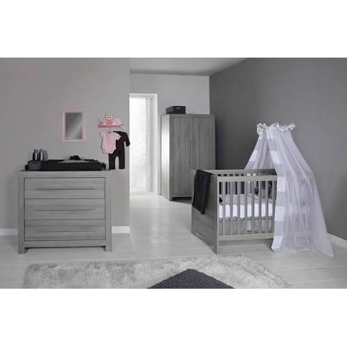 Vittoria babykamer (ledikant + commode) grijs