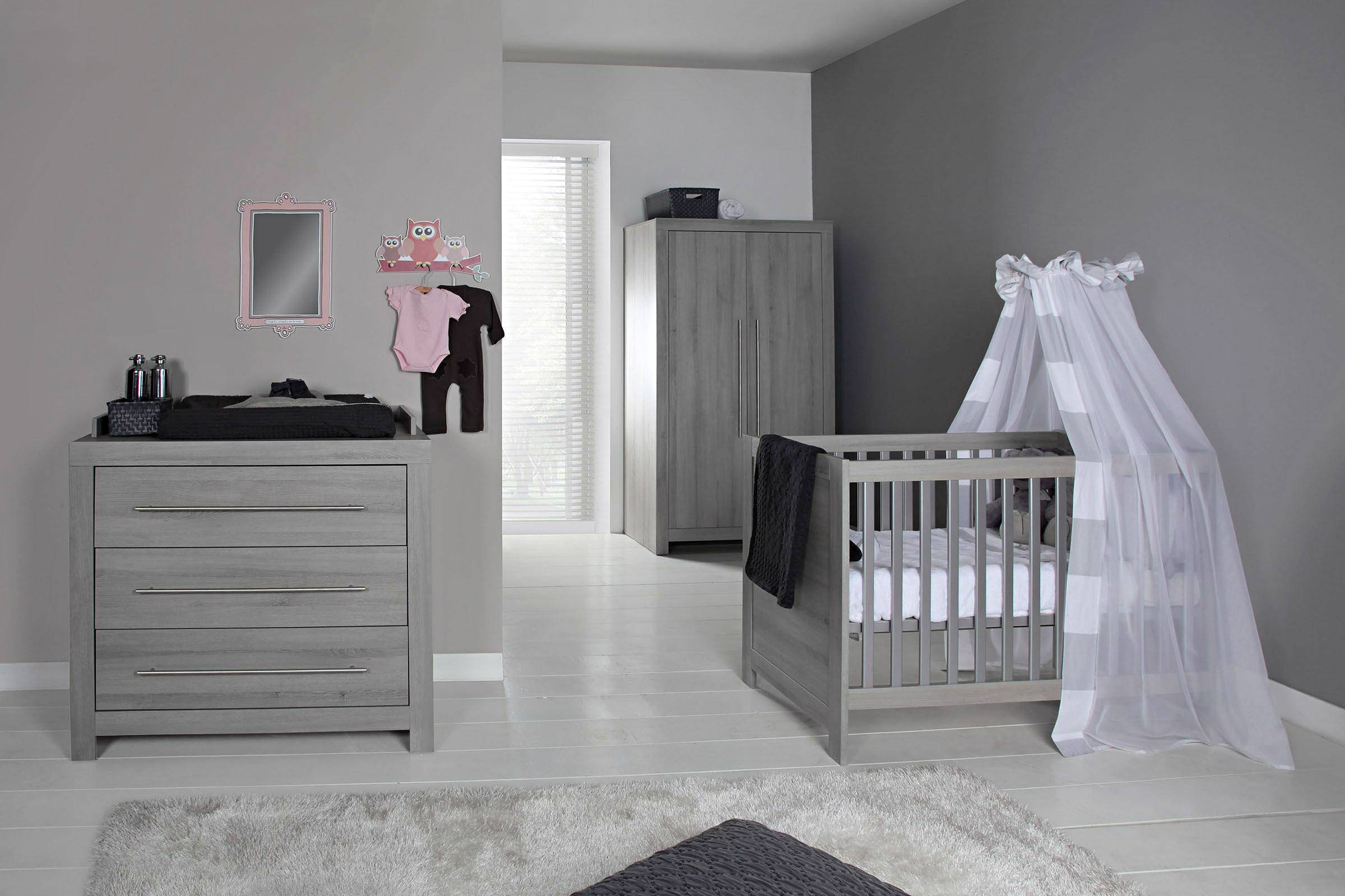 Europe Baby Vittoria babykamer (ledikant + commode) grijs