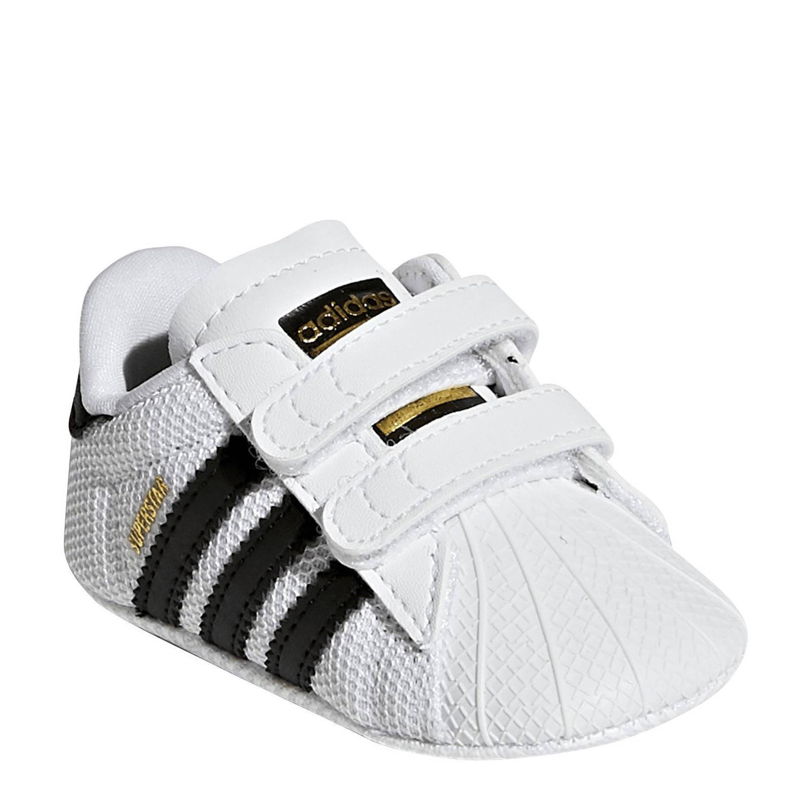 witte adidas babyschoenen superstar crib