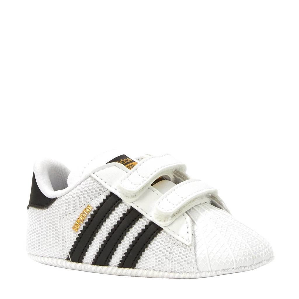 adidas originals Superstar Crib sneakers, Wit/zwart