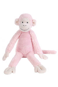 Happy Horse aap Mickey knuffel 32 cm, Pink