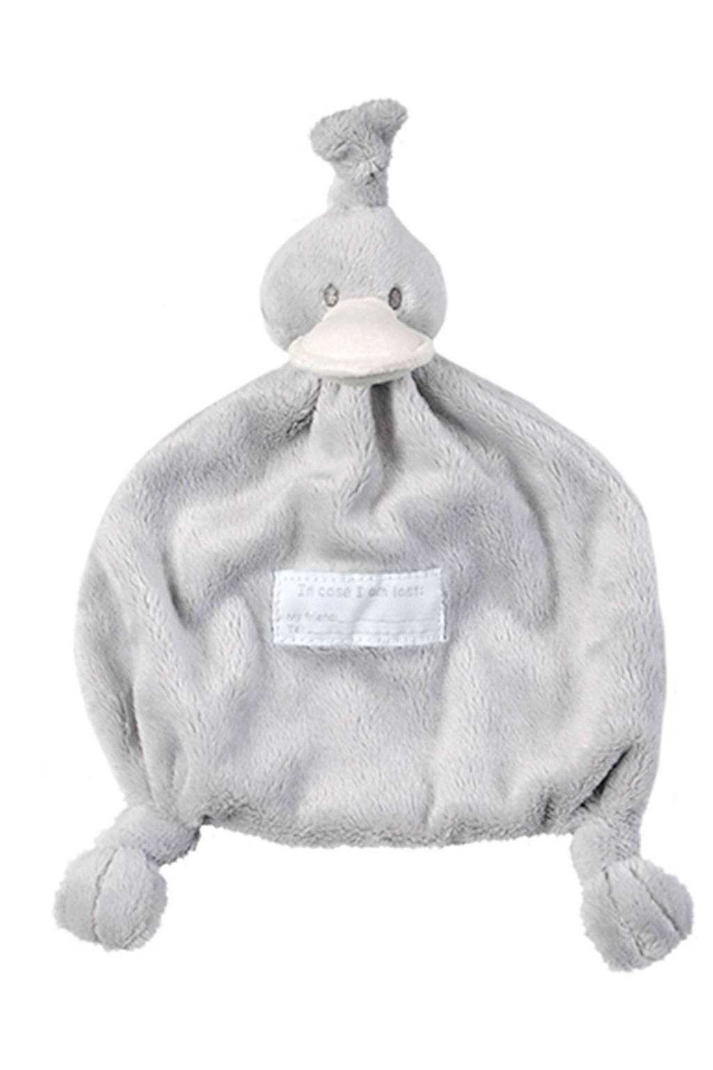 BamBam Duck Tuttle grijs knuffeldoekje, Grijs