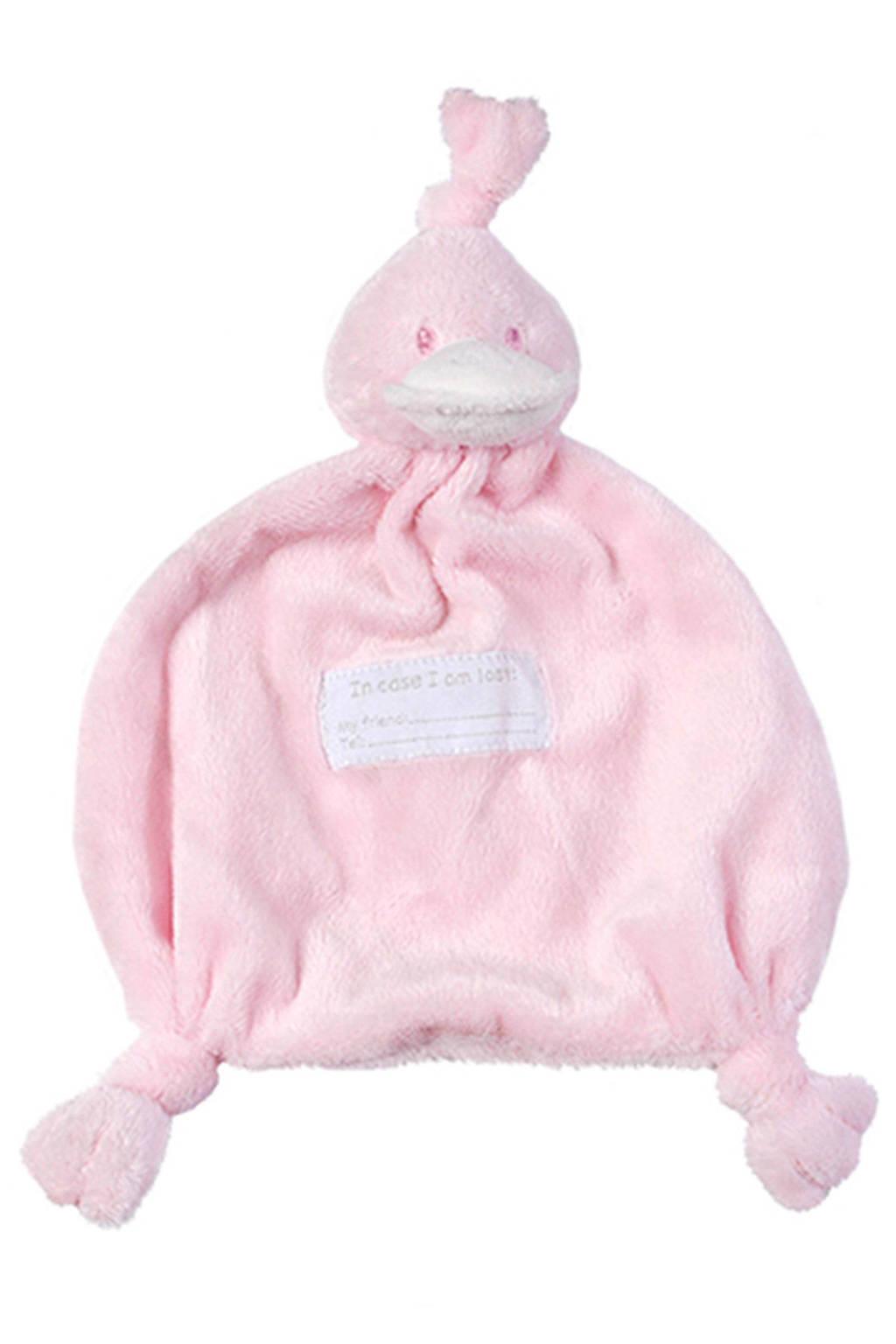 BamBam Duck Tuttle roze knuffeldoekje, Roze