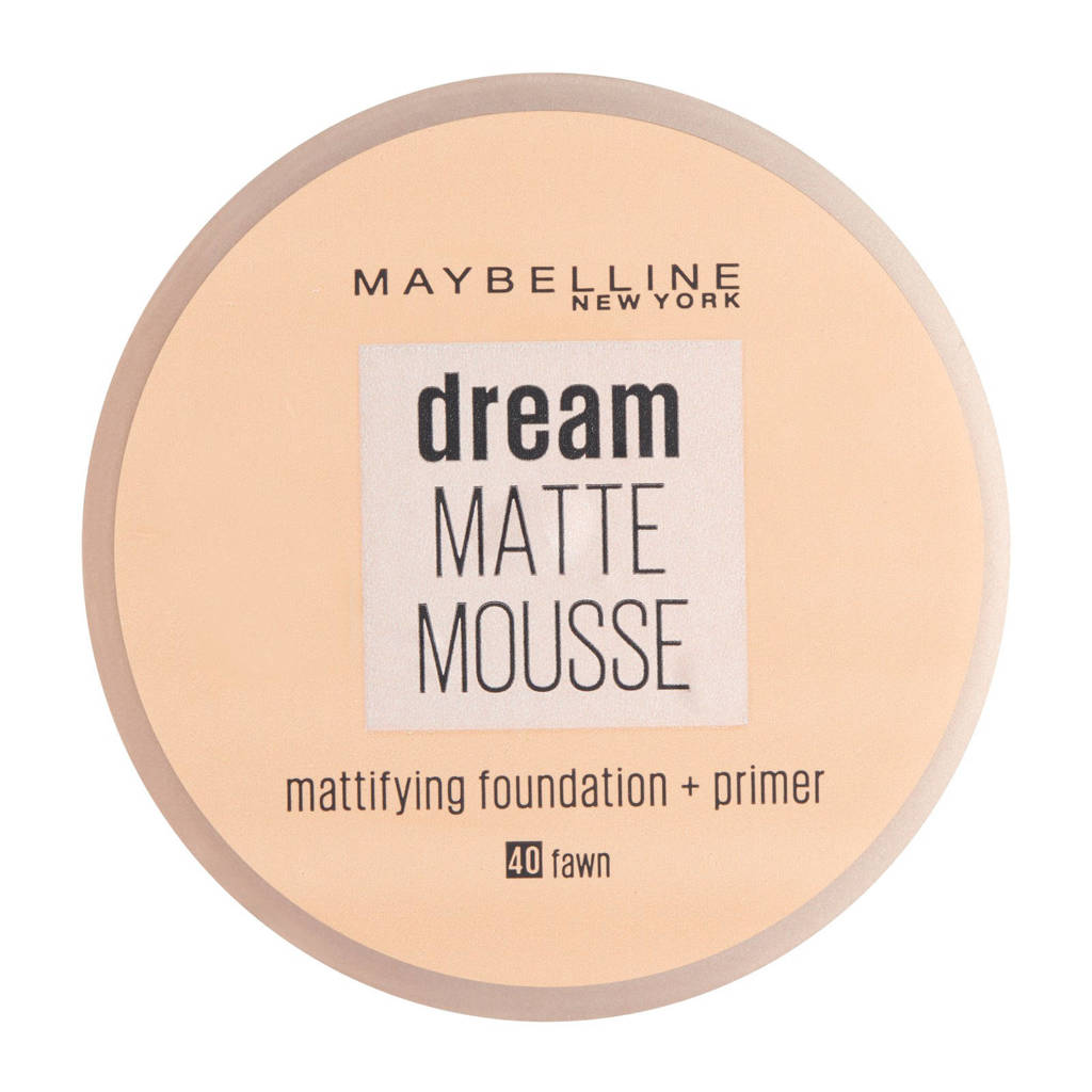 Maybelline New York Dream Matte Mousse foundation - 40 fawn, 40 Fawn