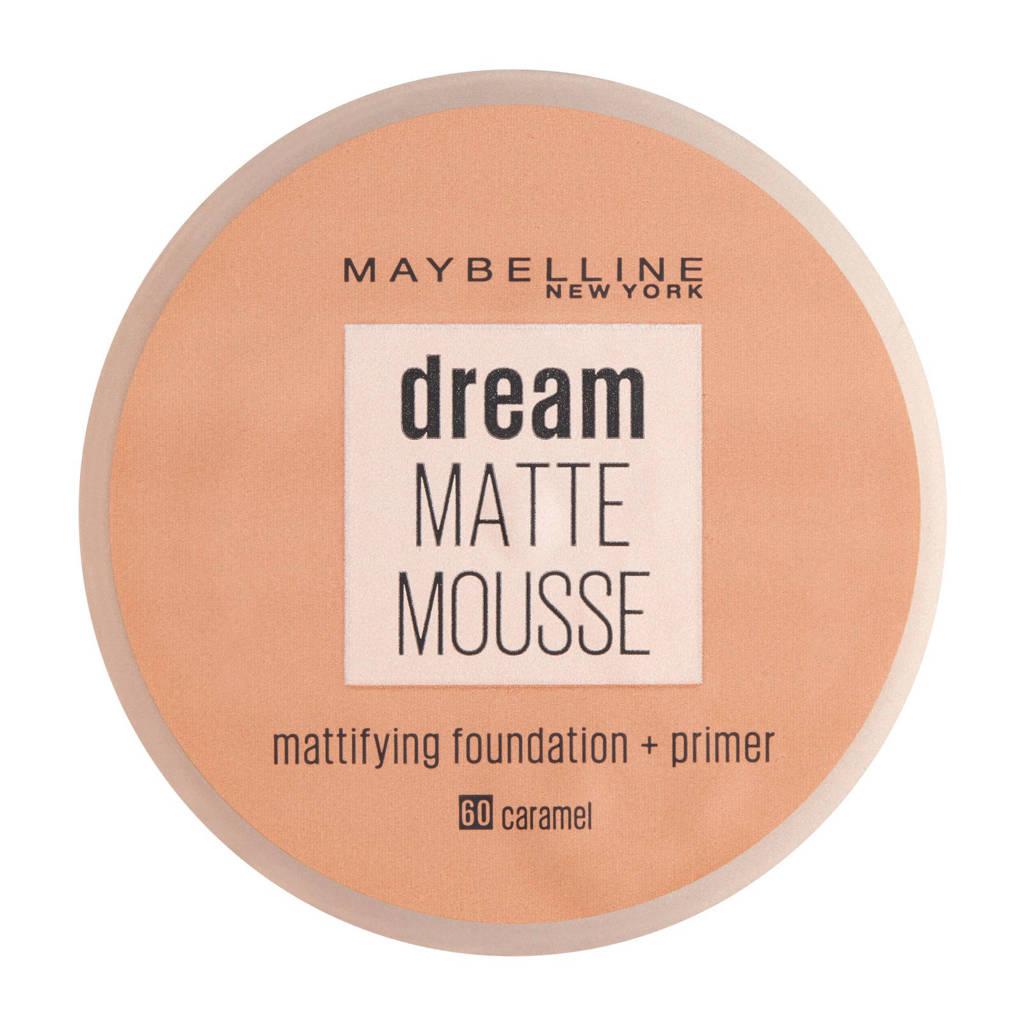 Maybelline New York Dream Matte Mousse foundation - 60 caramel, 60 Caramel