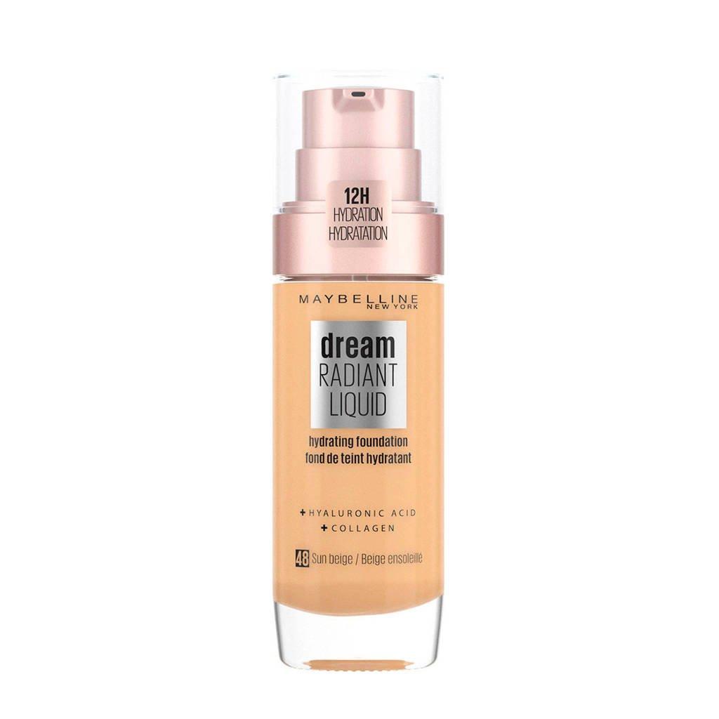 Maybelline New York Dream Radiant Liquid Foundation -  48 sun beige, 48 Sun Beige