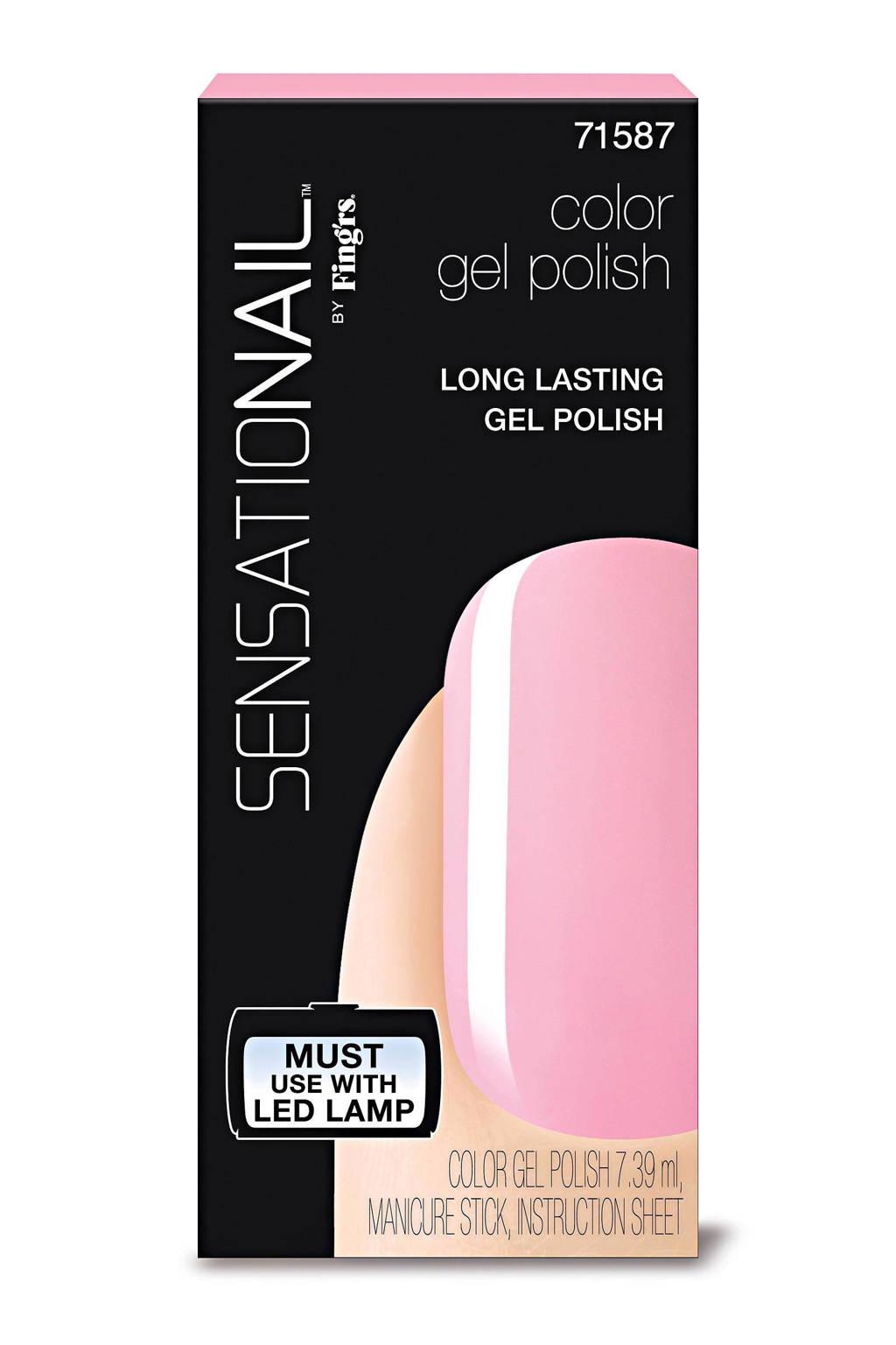 Sensationail gelnagellak - pink chiffon, Pink Chiffon