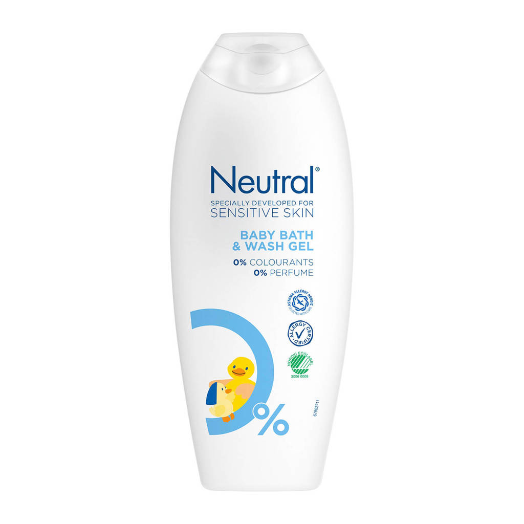 Neutral Baby bad- en wasgel - 250 ml - parfumvrij