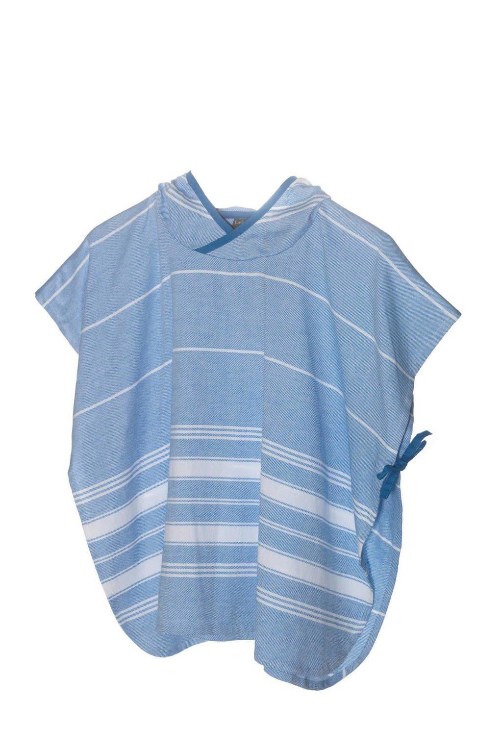 KipKep   Blenker poncho 4-7 jaar, Blauw