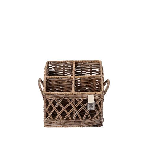 Rustic Rattan Couvert Basket