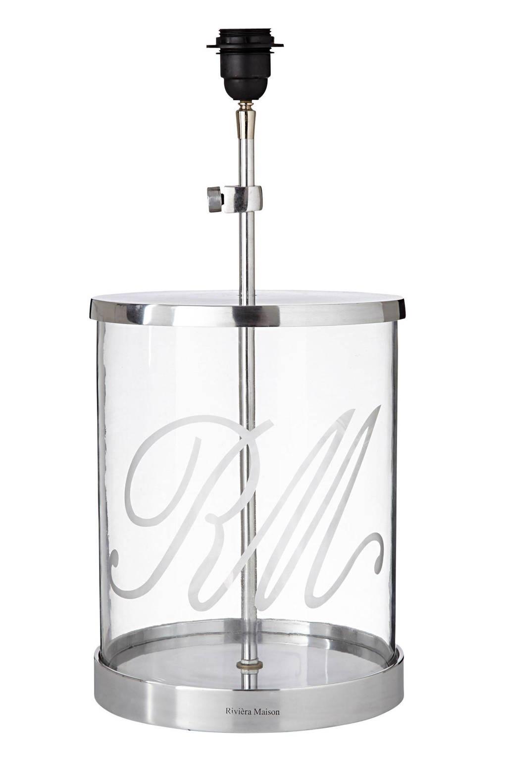 Riviera Maison lampenvoet Glass Display, Zilver