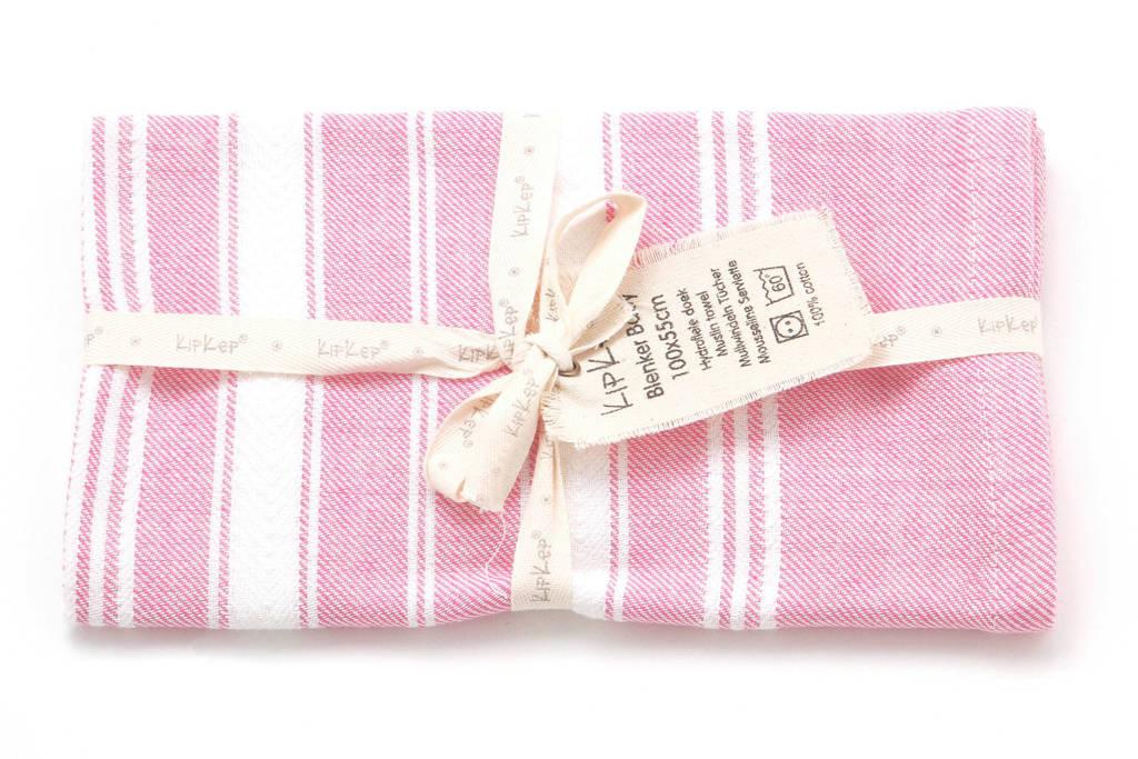 KipKep Blenker hydrofiel multidoek 55x100 cm roze, Roze