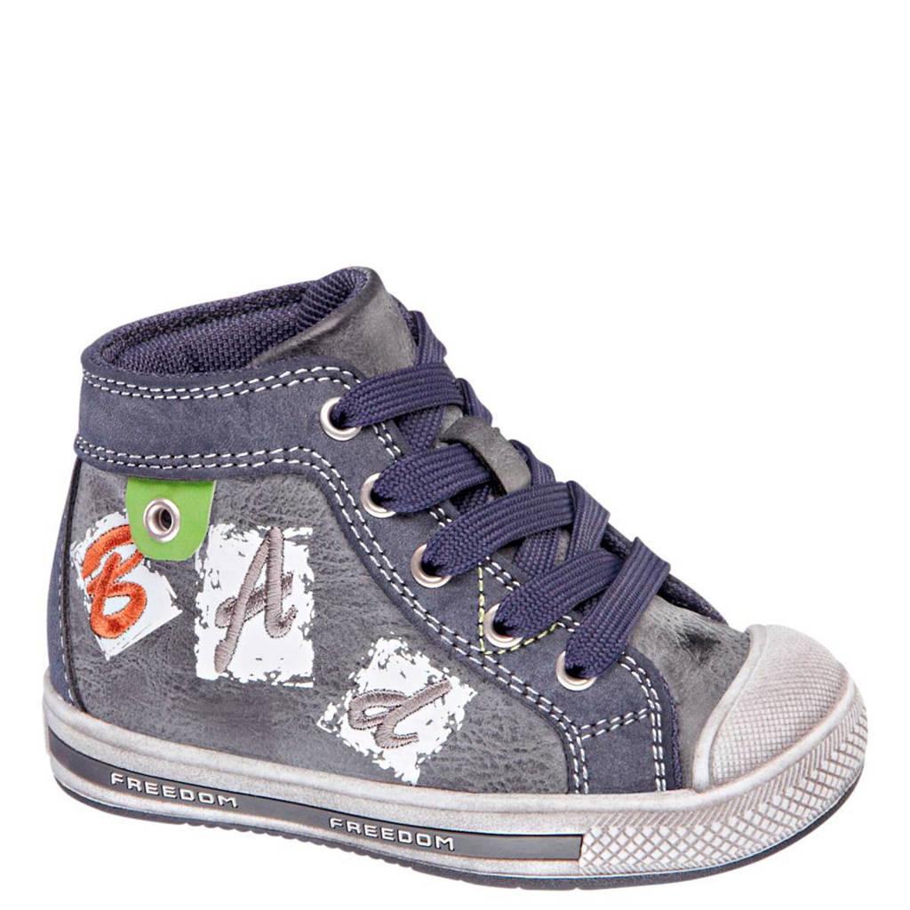 vanHaren Bobbi-Shoes   gympen, Grijsblauw/wit