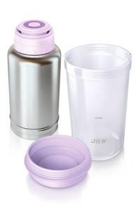Philips AVENT SCF256/00 flessenwarmer voor onderweg, Roestvrijstaal;Violet