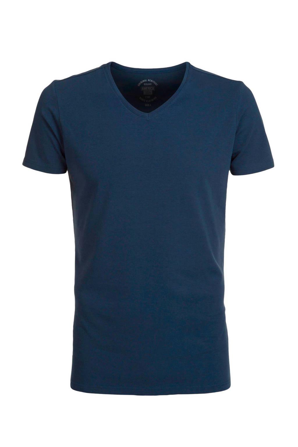 America Today regular fit T-shirt, Donkerblauw
