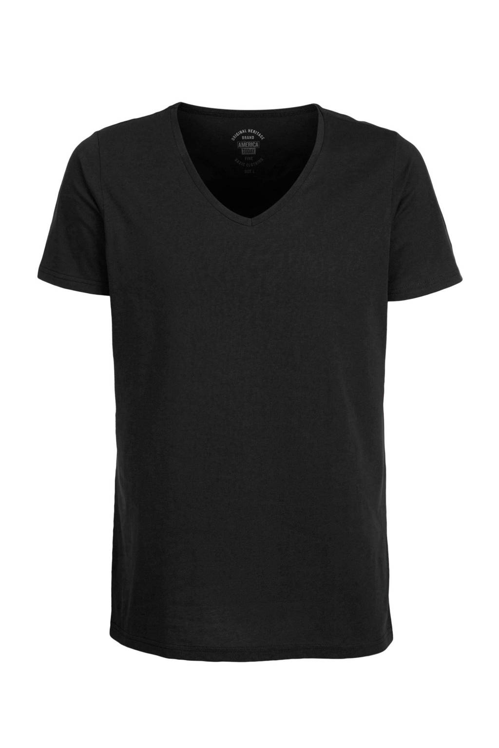 America Today regular fit T-shirt, Zwart