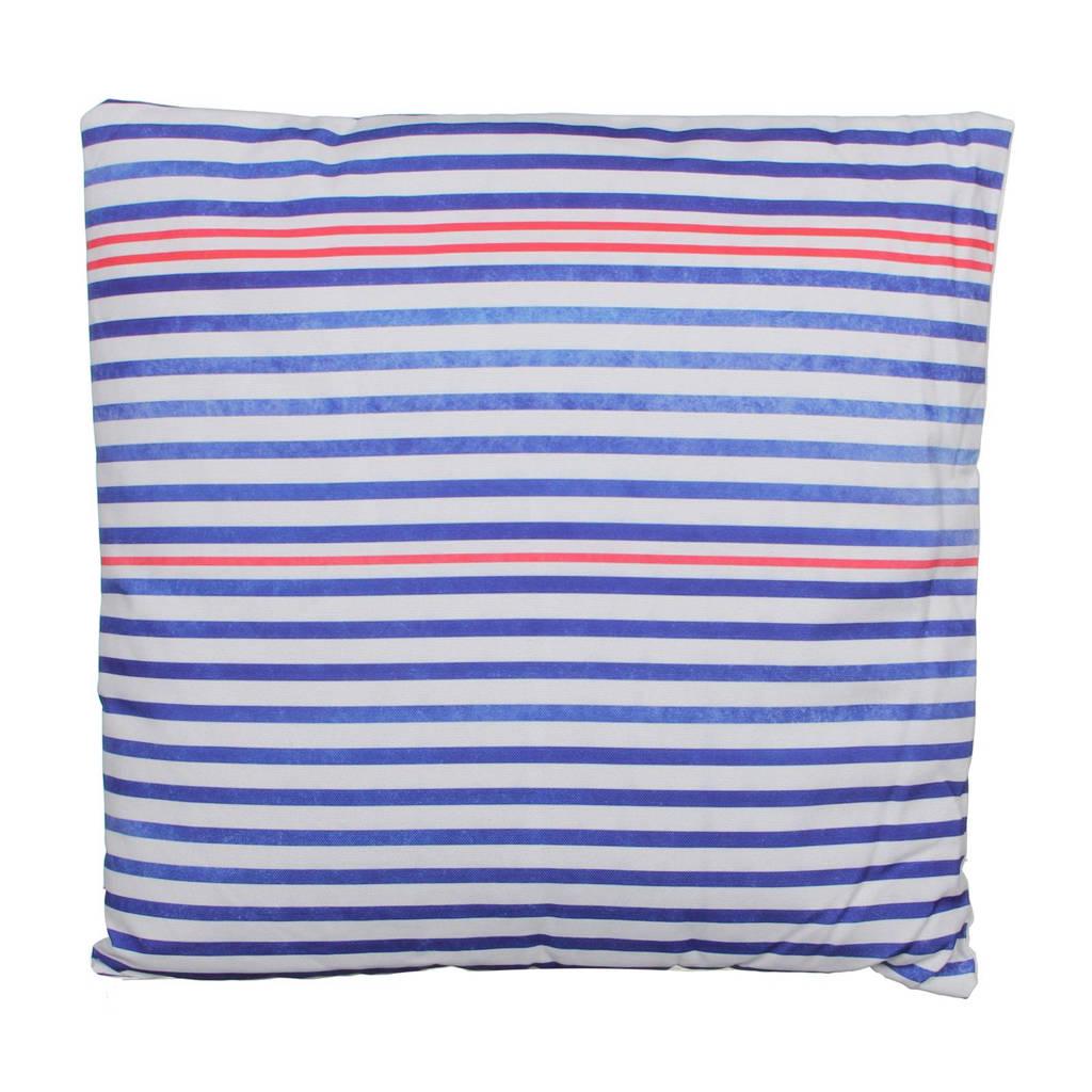 House of Seasons sierkussen (45x45 cm), Blauw/wit/rood