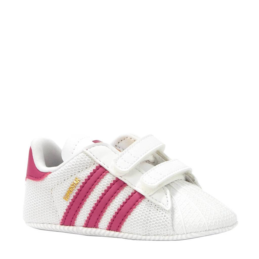 adidas originals Superstar Crib sneakers, Roze/wit