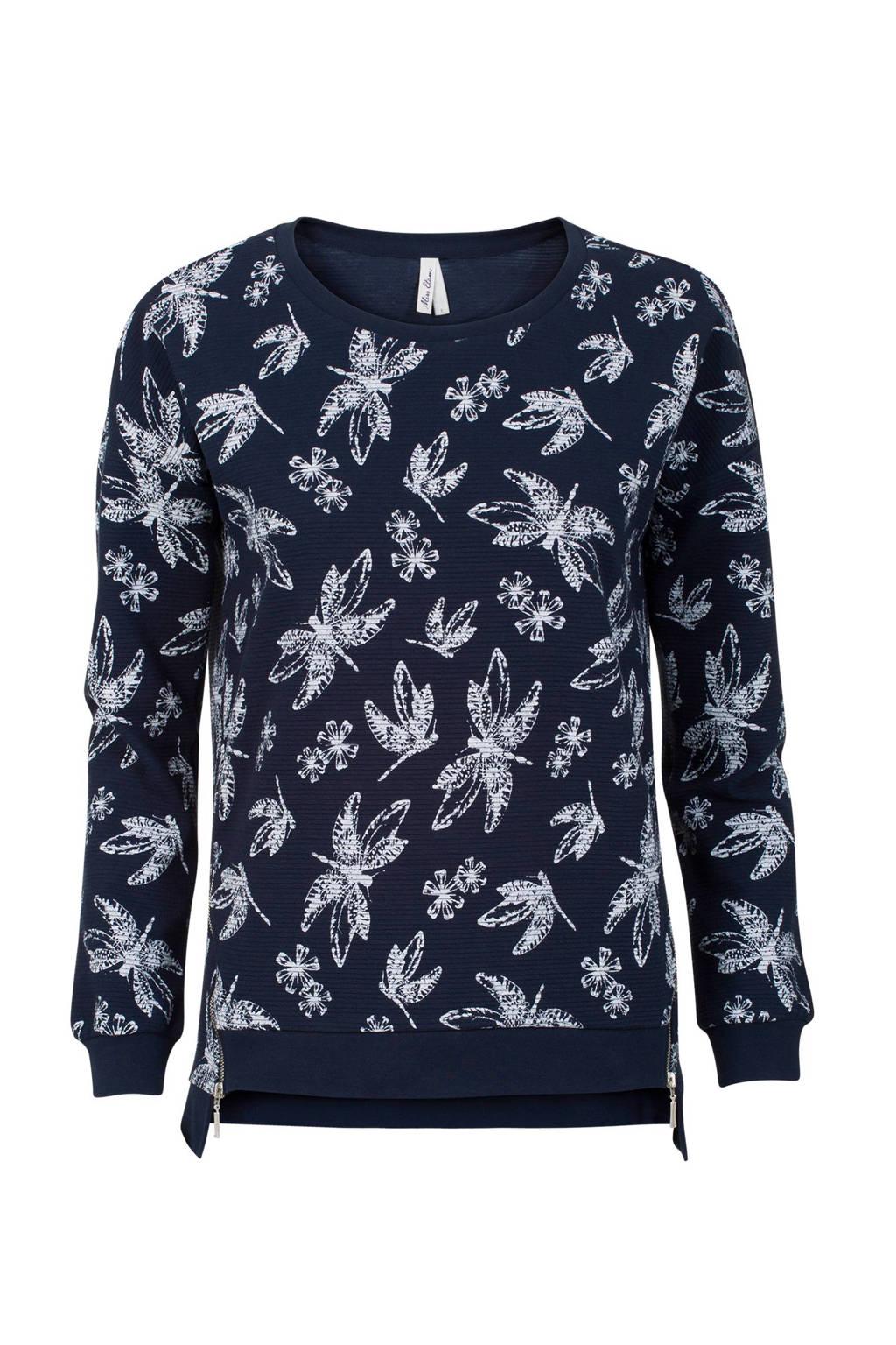 Miss Etam Regulier sweater, Donkerblauw