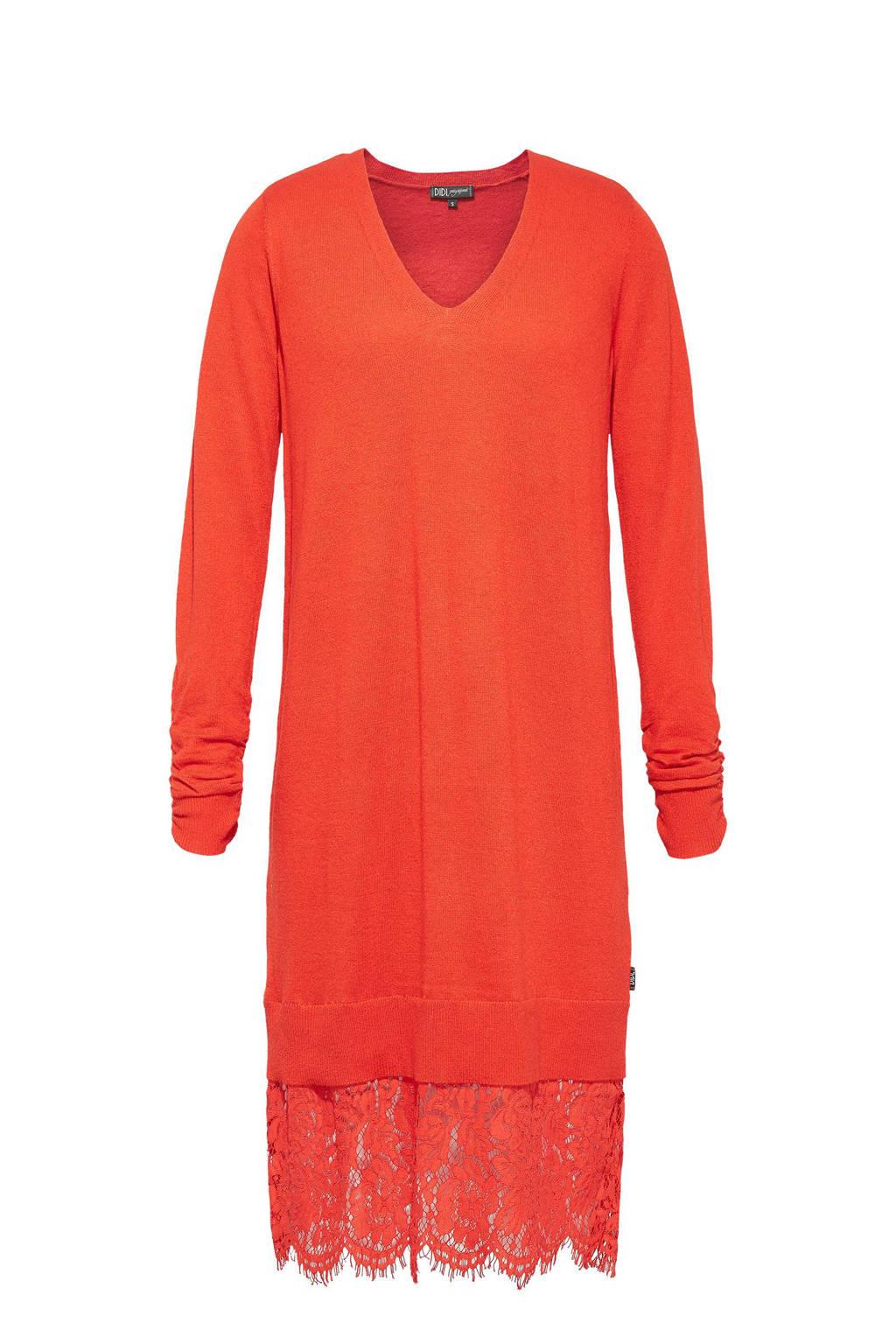 Didi jurk met wol, Rood