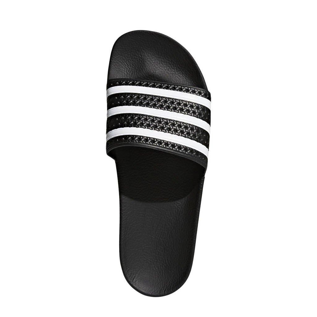 adidas originals Adilette badslippers zwart, Zwart/wit