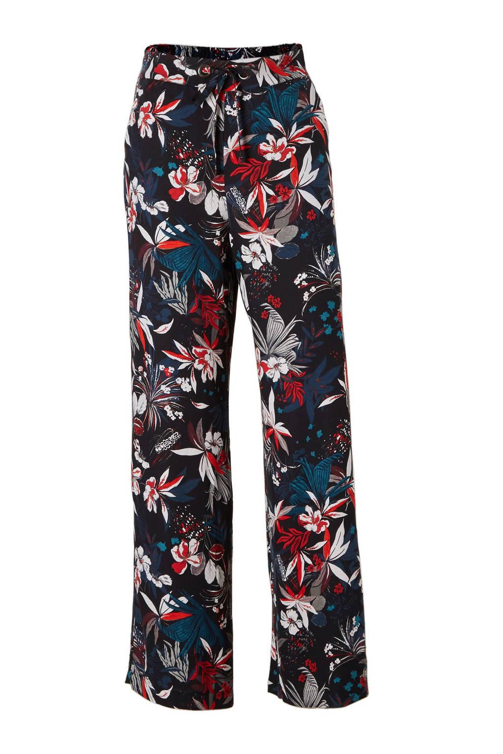 Mango loose fit broek, Zwart/blauw/rood