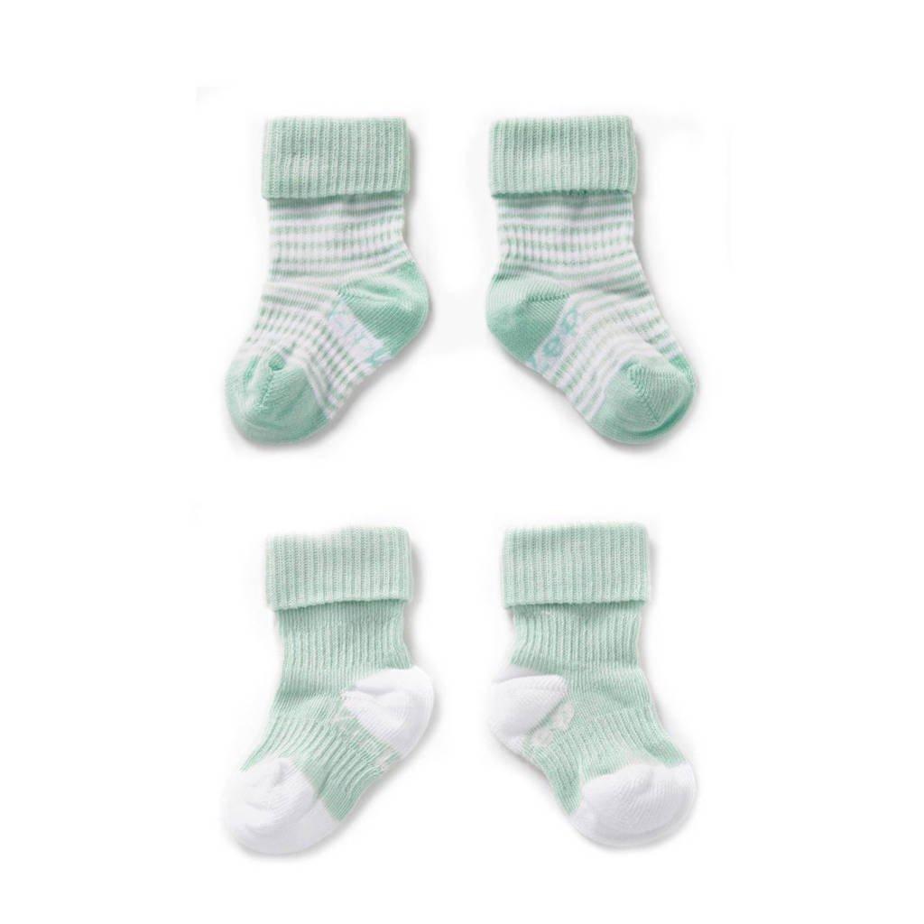 KipKep blijf-sokken 0-6 maanden mint, Mint