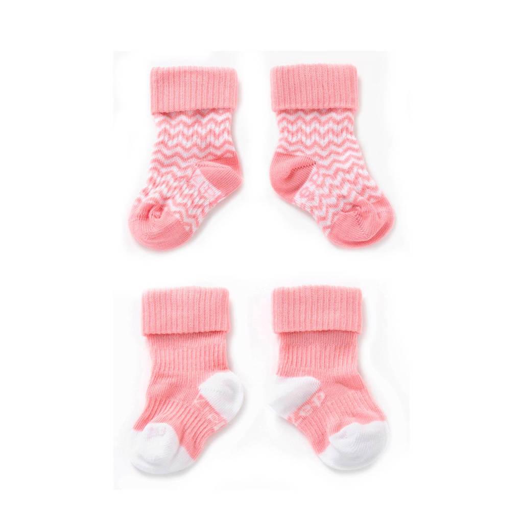 KipKep blijf-sokken 0-6 maanden roze, Roze