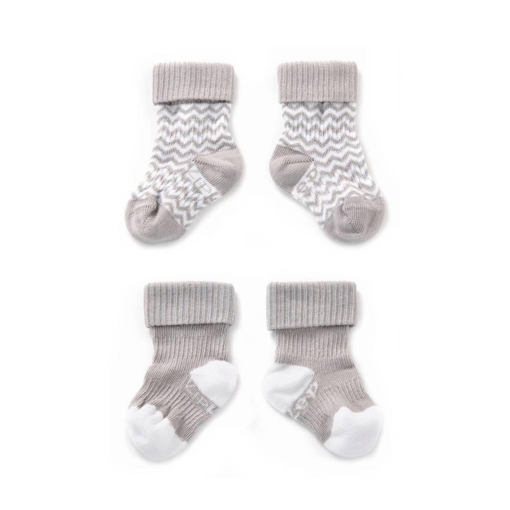 KipKep blijf-sokken 6-12 maanden grijs, Grijs