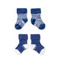 KipKep blijf-sokjes 6-12 maanden blauw