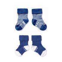 KipKep blijf-sokken 6-12 maanden blauw