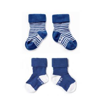 blijf-sokken 6-12 maanden blauw