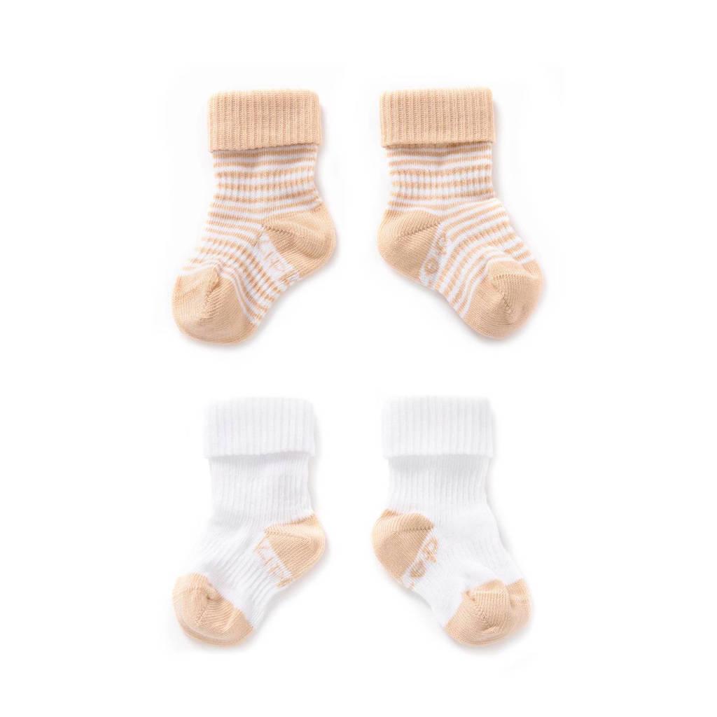 KipKep blijf-sokken 12-24 maanden zand, Zand