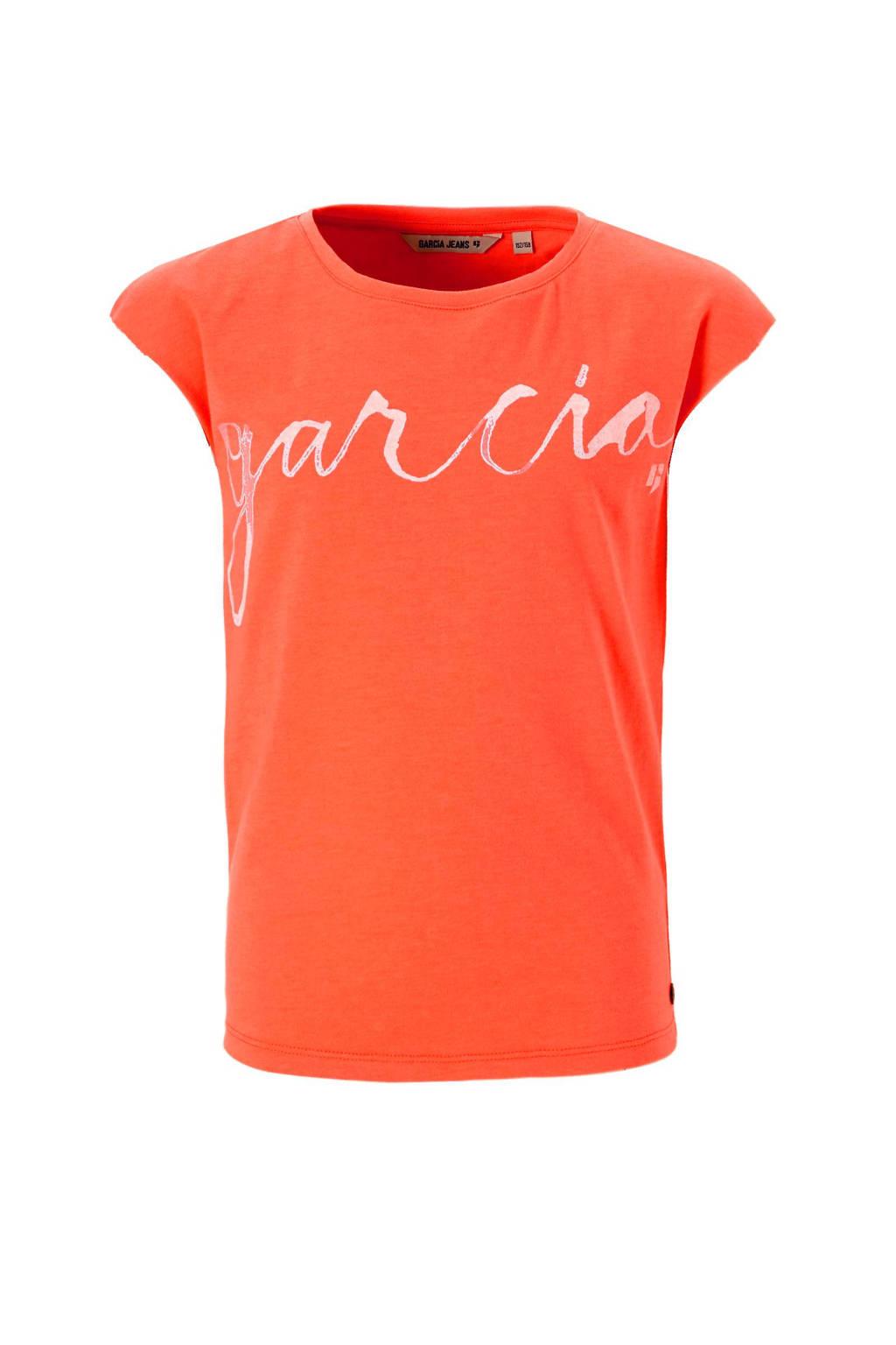 Garcia T-shirt, Neon oranje