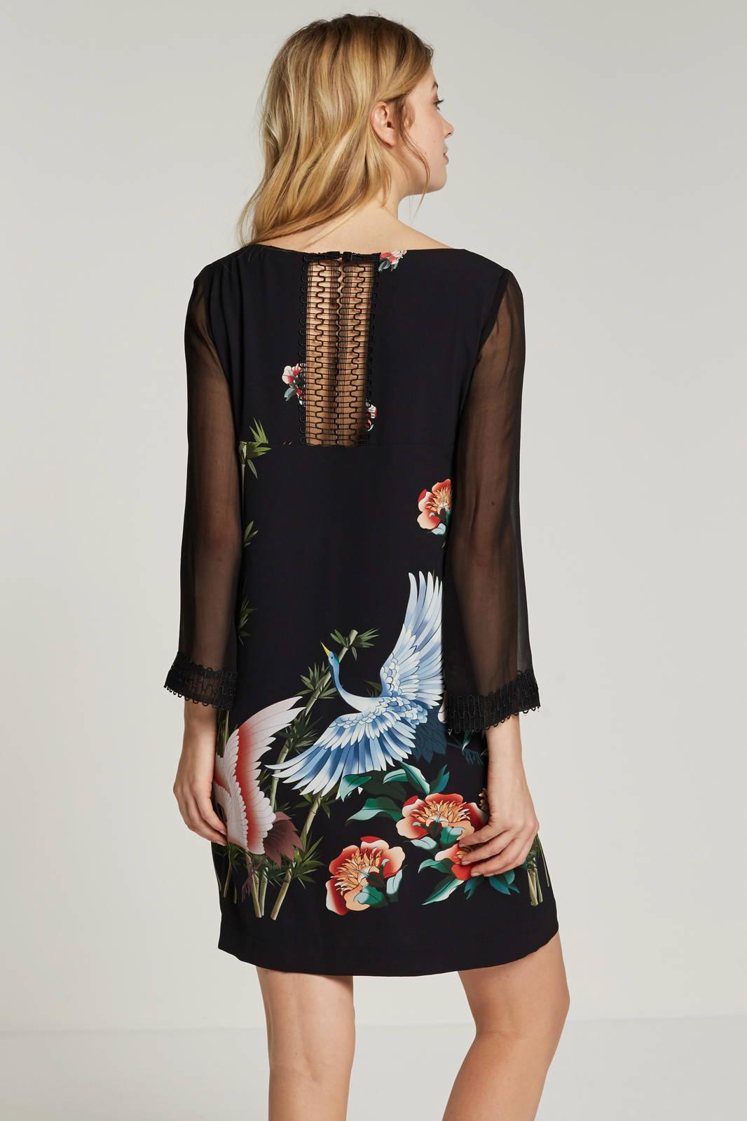 c94a5c25e8bbcd Ana Alcazar jurk met vogelprint