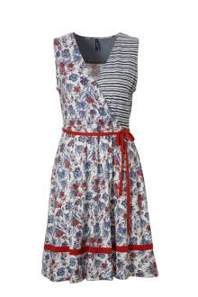 bloemen jurk met strepen
