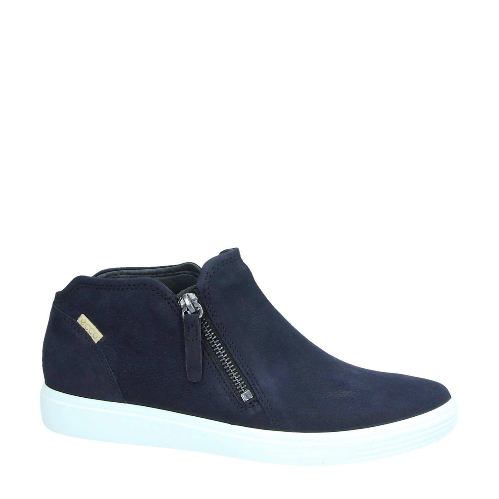 Ecco nubuck sneakers Soft 7 blauw Blauw, Schoenen en