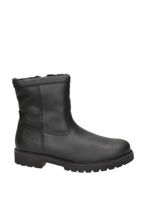 warm gevoerde leren laarzen zwart