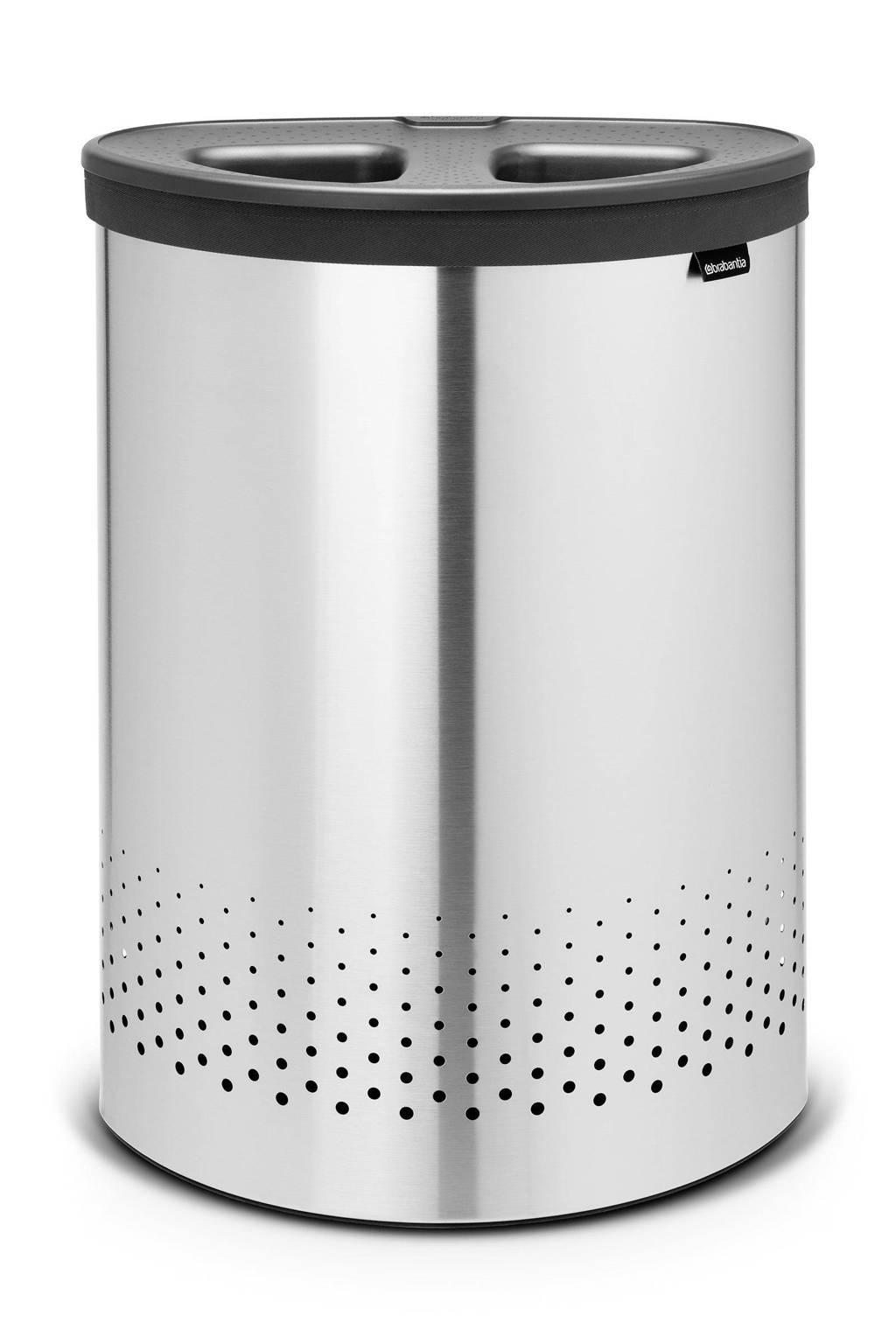 Brabantia wasbox Selector 55 liter - Matt Steel, Roestvrijstaal