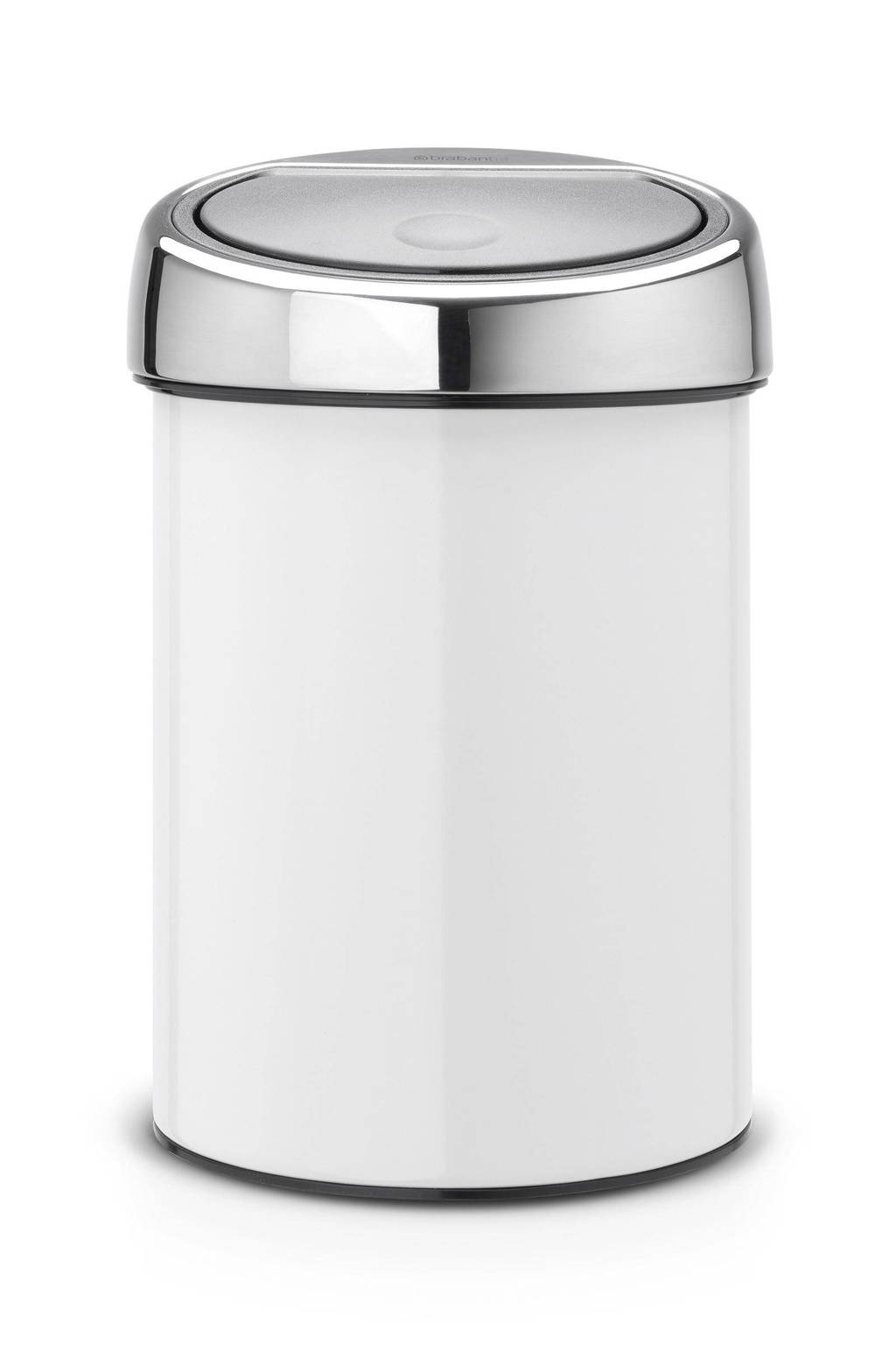 Brabantia 30 Liter Afvalemmer.Brabantia Touch Bin 3 Liter Afvalemmer Wehkamp