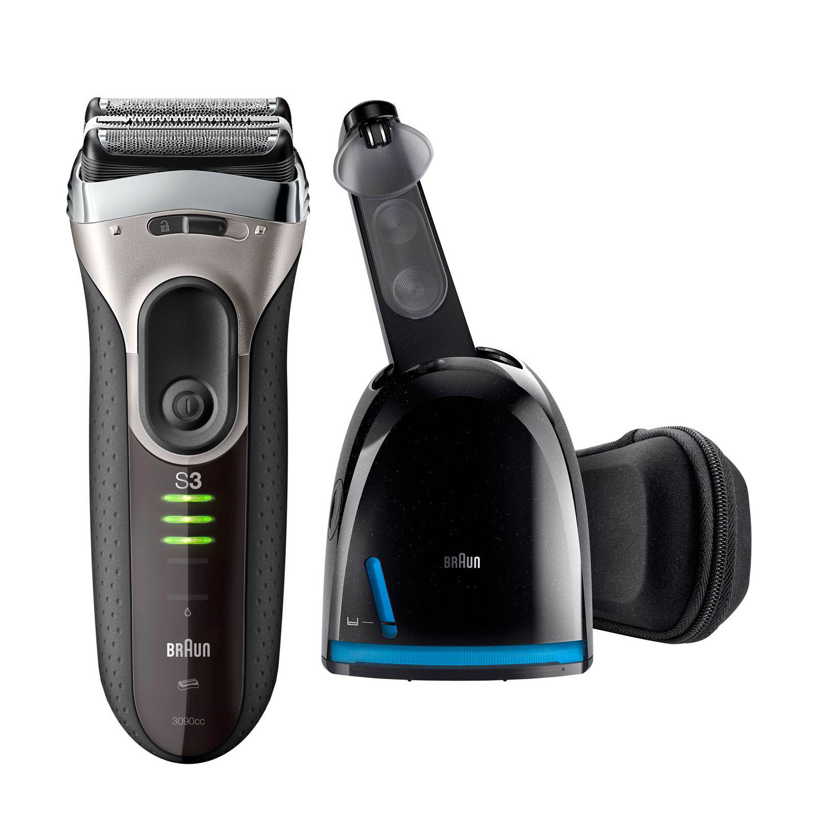 Braun Series 3090 cc scheerapparaat + Clean & Charge station