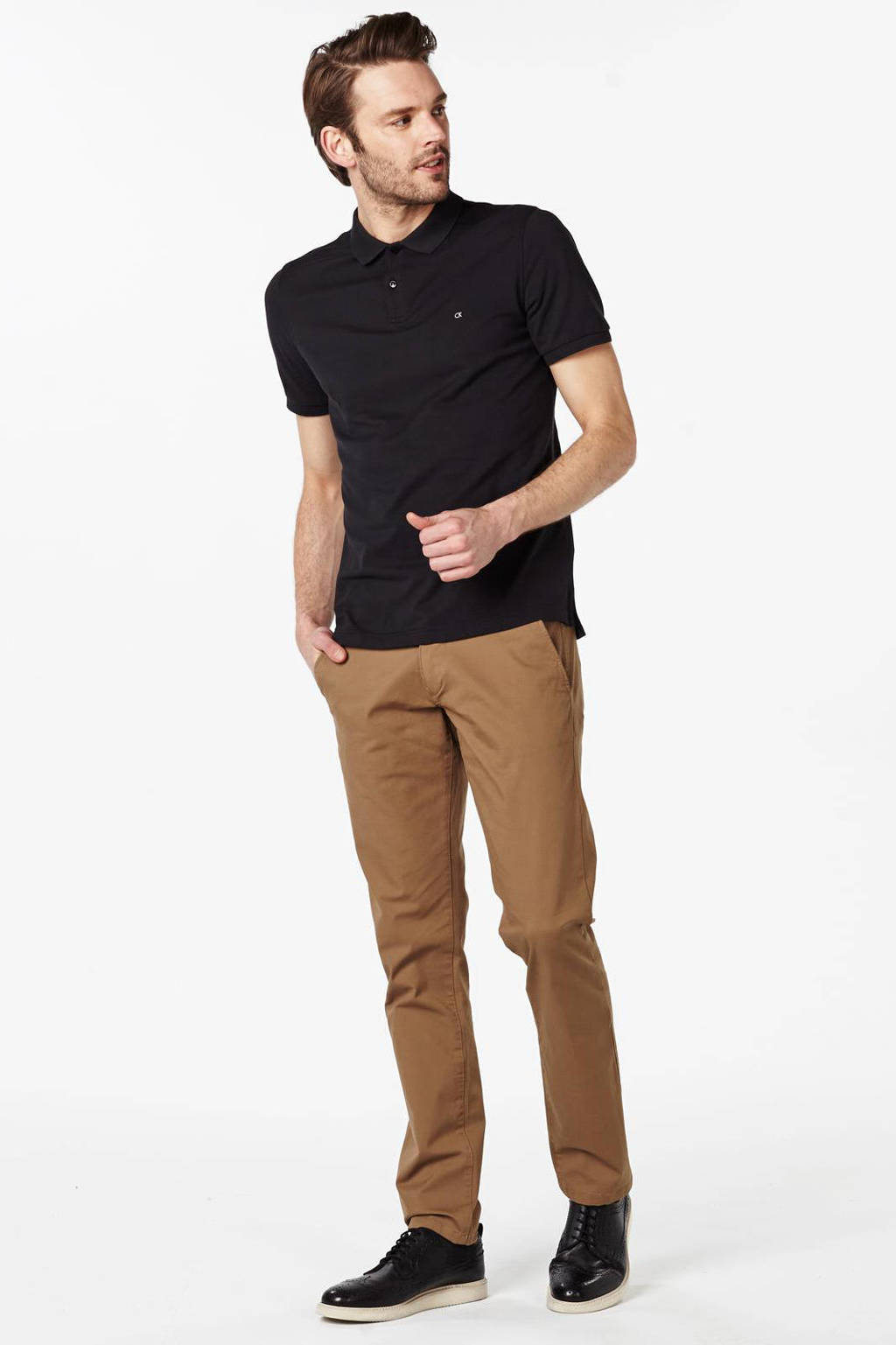 SELECTED HOMME regular fit chino, Camel