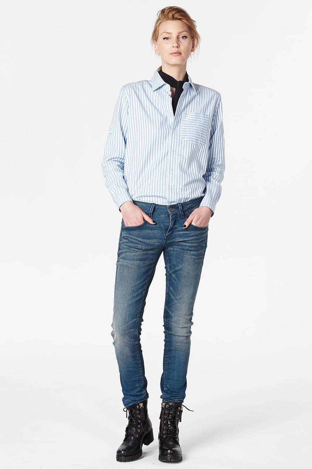 G-Star RAW Lynn mid skinny fit jeans, Blauw