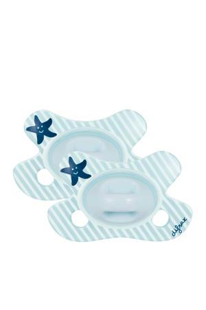 Dental fopspeen newborn (2 stuks) blauw